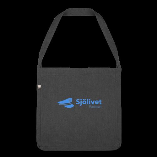 Sjölivet podcast - Svart logotyp - Axelväska av återvinningsmaterial