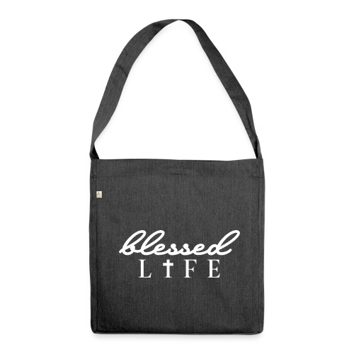 Blessed Life - Jesus Christlich - Schultertasche aus Recycling-Material