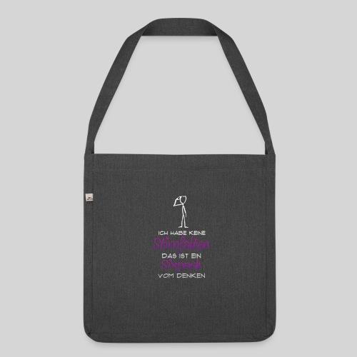 ich habe keine Stirnfalten das ist ein Sixpack - Schultertasche aus Recycling-Material