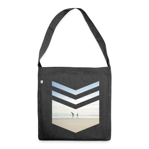 Surfing Beach - Schultertasche aus Recycling-Material