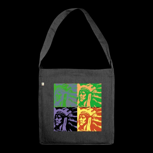 POP ART AMERINDIEN - Sac bandoulière 100 % recyclé