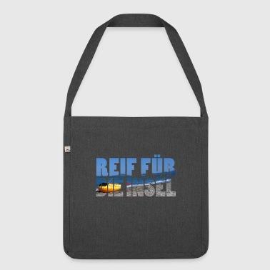 Reif für die Insel - Schultertasche aus Recycling-Material