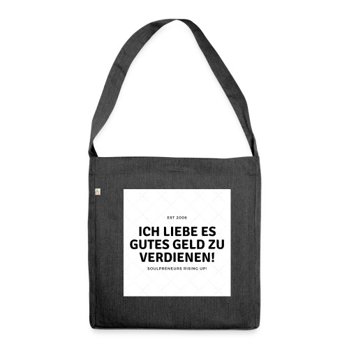 Good Vibrations - Schultertasche aus Recycling-Material