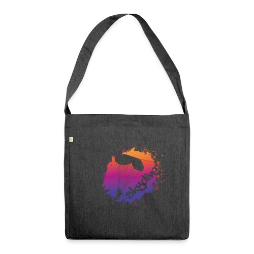 Skydive Watercolor - Schultertasche aus Recycling-Material