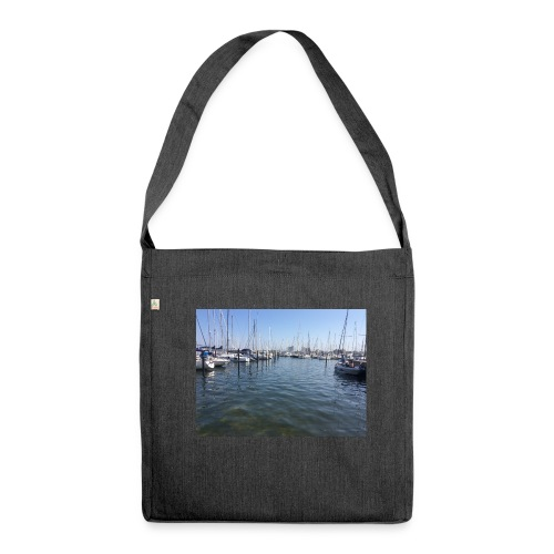 Ostsee Hafen - Schultertasche aus Recycling-Material