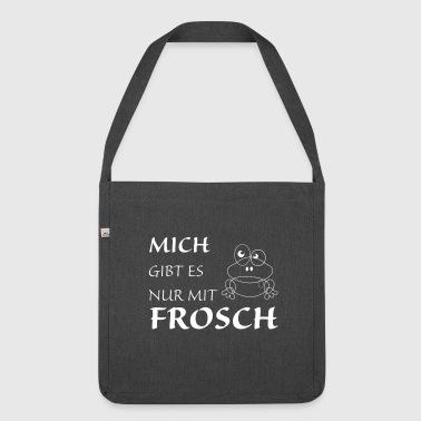 Nur mit Frosch - Schultertasche aus Recycling-Material