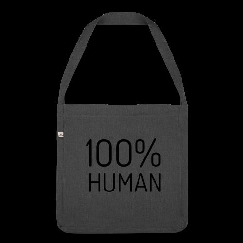 100% Human - Schoudertas van gerecycled materiaal