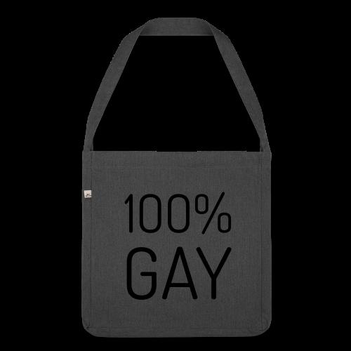 100% Gay - Schoudertas van gerecycled materiaal