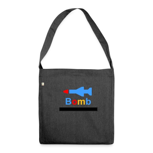 dont say hey bomb - Schultertasche aus Recycling-Material