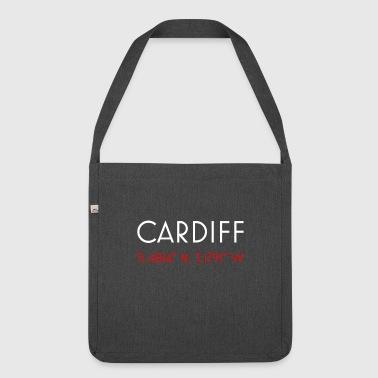 Cardiff Wales minimalistische Koordinaten - Schultertasche aus Recycling-Material