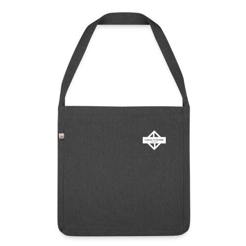 WRAP logo blanc - Sac bandoulière 100 % recyclé