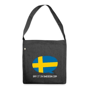 Say It In Swedish - Shoulder Bag made from recycled material