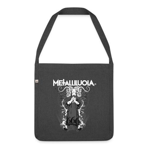 Metalliluola logo ja Demoniac 666 - Olkalaukku kierrätysmateriaalista