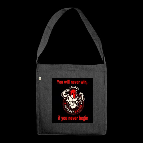 You will never win - Schultertasche aus Recycling-Material