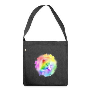Rainbow Kitty - Shoulder Bag made from recycled material