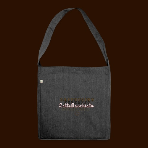 cafe - Shoulder Bag made from recycled material