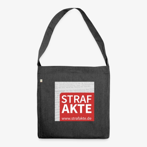 Strafakte.de Logo - Schultertasche aus Recycling-Material