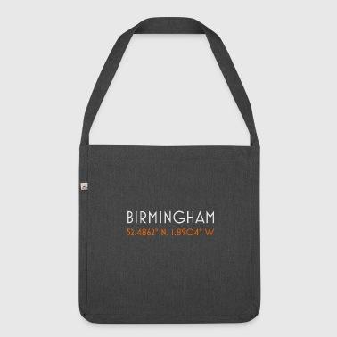 Birmingham England minimalistische Koordinaten - Schultertasche aus Recycling-Material