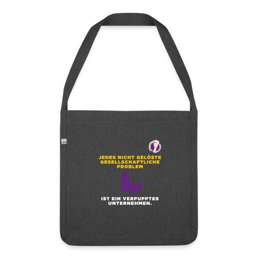 Verpupptes Unternehmen - Schultertasche aus Recycling-Material