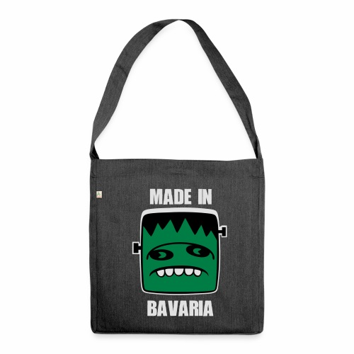 Fonster weiß made in Bavaria - Schultertasche aus Recycling-Material