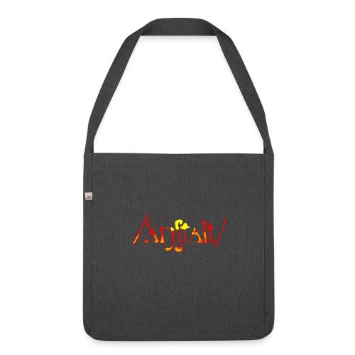logo gerastert (flamme) - Schultertasche aus Recycling-Material