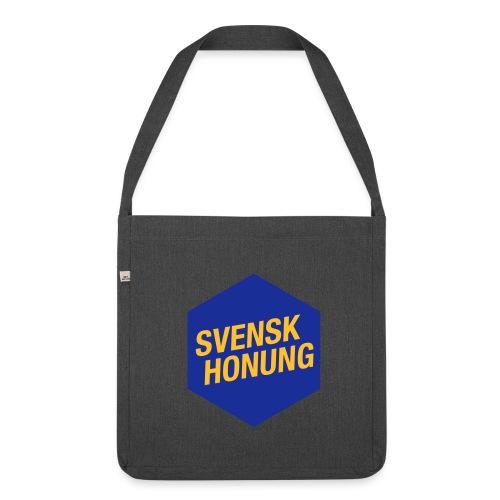 Svensk honung Hexagon Blå/Gul - Axelväska av återvinningsmaterial