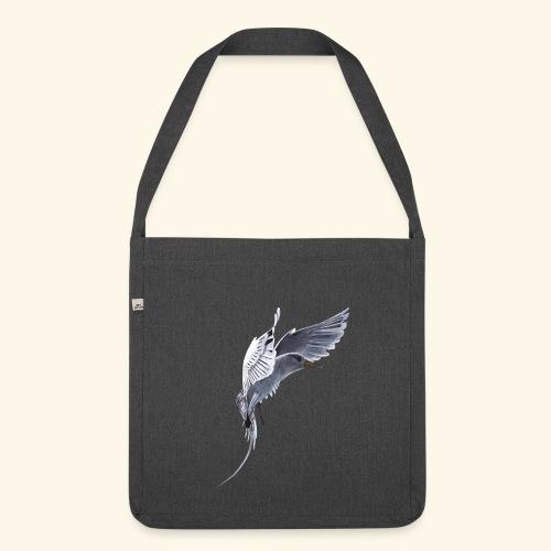 Weißschwanz Tropenvogel - Schultertasche aus Recycling-Material