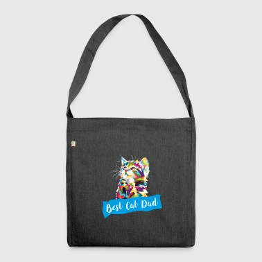 Best Cat Father Cat Papi Cat Pappa T-Shirt - Shoulder Bag made from recycled material