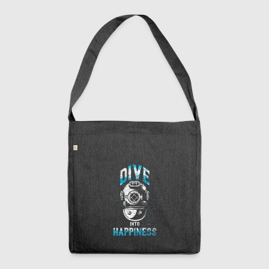 Immerse yourself in the happy vintage diving helmet - Shoulder Bag made from recycled material