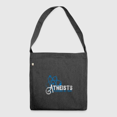 Atheist religion atheism gift vintage - Shoulder Bag made from recycled material