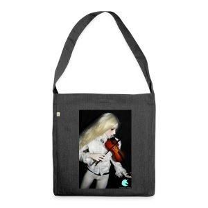 Vampire Violin Gothic Music Fantasy Enchanted - Shoulder Bag made from recycled material