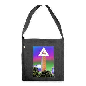 SIXTH DIEMENSION MONUMENT - Shoulder Bag made from recycled material
