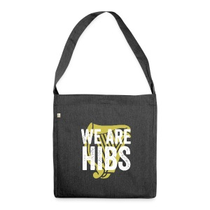 WEAREHIBS WhiteWithGoldHarp - Shoulder Bag made from recycled material