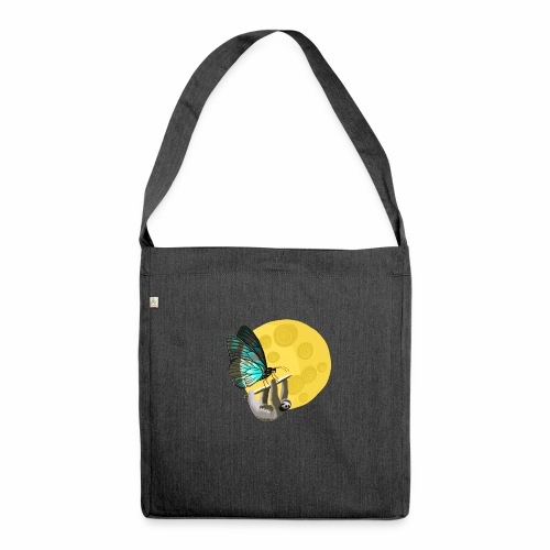 Fly me to the moon - Schultertasche aus Recycling-Material