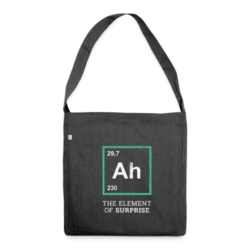 Ah the element of surprise – GREEN - Schultertasche aus Recycling-Material