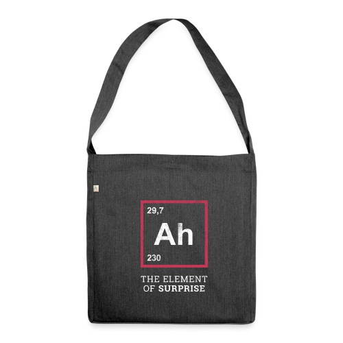 Ah the element of surprise – RED - Schultertasche aus Recycling-Material