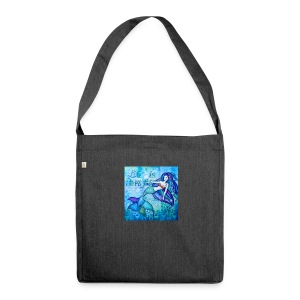 Meerjungfrau Life is Beautiful - Schultertasche aus Recycling-Material