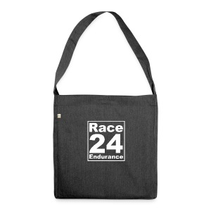 Race24 Logo - White - Shoulder Bag made from recycled material
