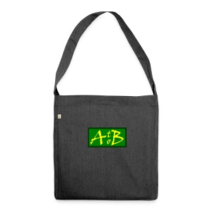 AtoB Logo green / yellow - Shoulder Bag made from recycled material