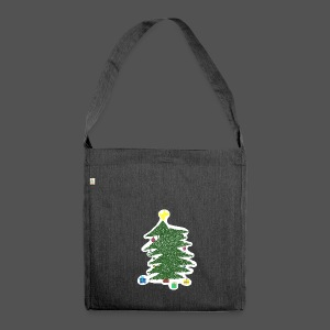 Christmas Kids-Drawing - Schultertasche aus Recycling-Material