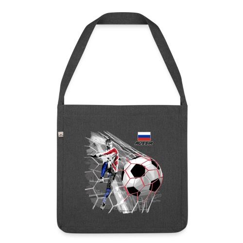 GP22F-04 RUSSIAN FOOTBALL TEXTILES AND GIFTS - Olkalaukku kierrätysmateriaalista