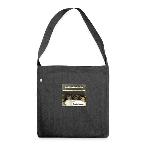 2018 09 01 20 36 41 Hunde Pause - Schultertasche aus Recycling-Material