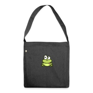 Frog Tshirt - Shoulder Bag made from recycled material