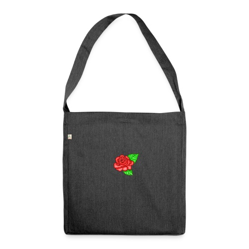 Roses are red 🌹 - Schultertasche aus Recycling-Material