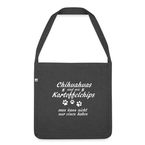 KartoffelchipsChihuahua - Schultertasche aus Recycling-Material