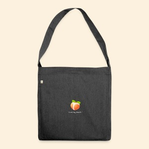 Look my peach in white - Shoulder Bag made from recycled material