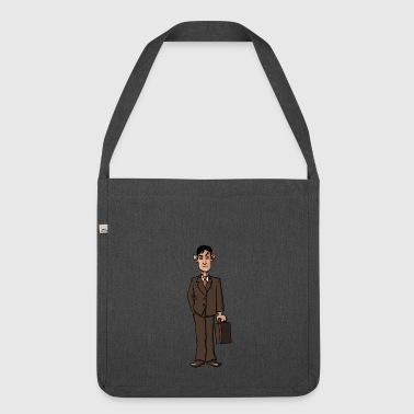 business man men businessman company entrepreneur - Shoulder Bag made from recycled material