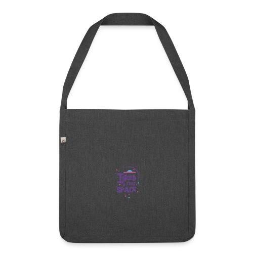 t_shirt_fuer_beste_freundin - Schultertasche aus Recycling-Material