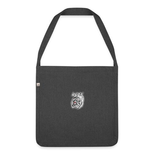 wesen mit herz und logo - Schultertasche aus Recycling-Material