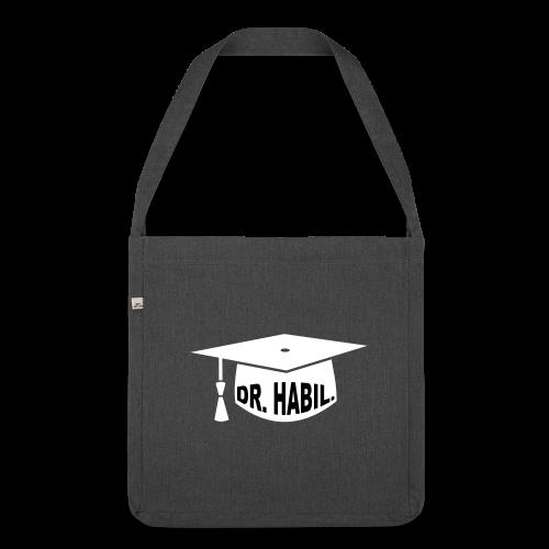 Doktorhut Professor Habilitation Geschenk - Schultertasche aus Recycling-Material